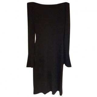 Ralph Lauren Black Label- Navy Blue off-shoulder dress
