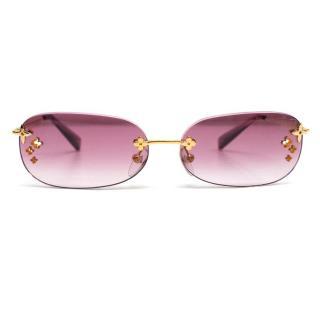 Louis Vuitton Desmayo Pink Oval Sunglasses