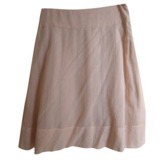 Jil Sander peach cotton A-line skirt