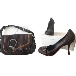 Christian Dior Brown Bag and Heels Set