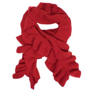 Madeleine Thompson Red Cashmere Scarf