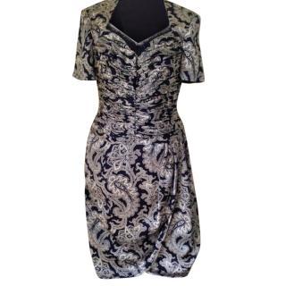 Escada Couture silk corset dress
