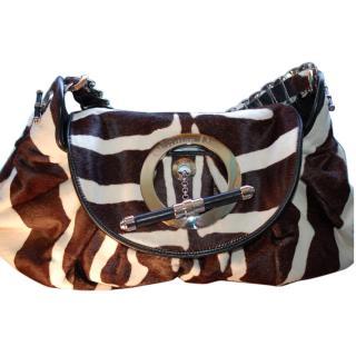 Dior Runway Jazz Club Zebra Print Flapped Shoulder Bag