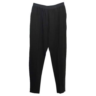 Celine Black Tapered Trousers With An Elasticated Waistband