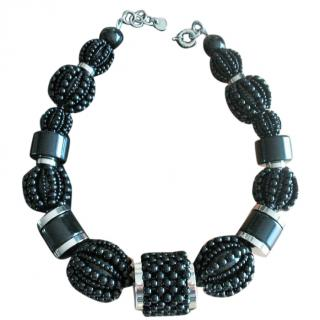 Dyrberg/Kern Necklace with black beads