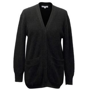 Claudie Pierlot Black Angora Knit Long Cardigan