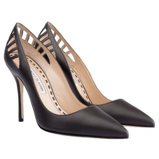 Manolo Blahnik Black Cut Out Pumps