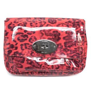Mulberry Smudged Leopard Bayswater Clutch
