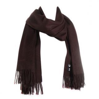 Hermes Brown Cashmere Shawl