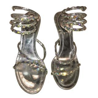 Rene Caovilla Crystal Stud Sandels