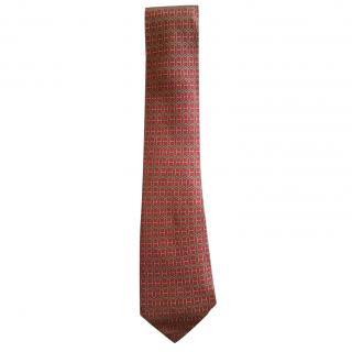 Hermes Silk Patterned Tie