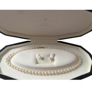 Mikimoto Akoya Pearl Necklace & Earrings Set