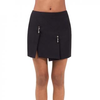 Versus Versace Safety Pin Slit Mini Skirt - Black