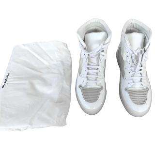 Balenciaga High Top Men's White Sneakers