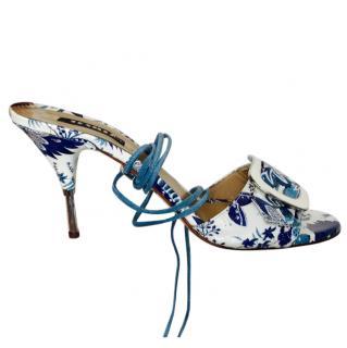 La Silla majolica pattern sandals