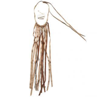 Brunello Cucinelli long leather necklace