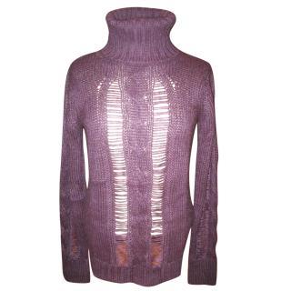 Calvin Klein Purple Wool Sweater