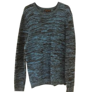 Jonathan Saunders Blue Texture Sweater