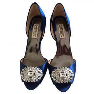 Badgley Mischka Blue Satin Heels