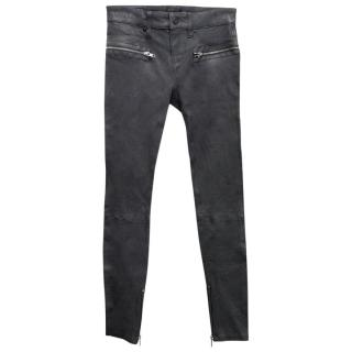 RTA Dark Grey Leather Pants