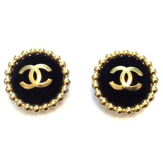 Chanel gold plated vintage earrings
