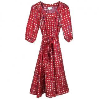 Brora red silk dress