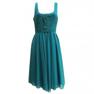 Twenty8Twelve teal corset dress