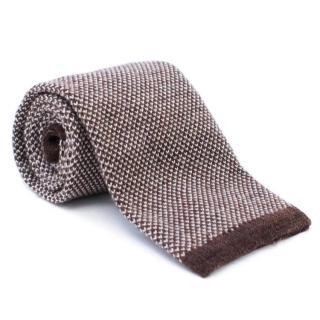 Yves Saint Laurent Brown Wool Tie