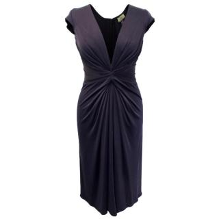 Issa Silk Knee Length Purple Dress