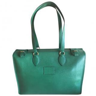 Hermes Emerald Leather Shoulder Bag