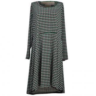 Michael Michael Kors Green Patterned Dress