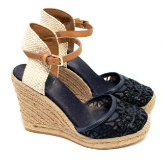 Tory Burch Wedged Woven Sandels