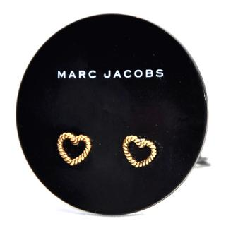 Marc Jacobs Twisted Pave Black Stoned Stud Earrings Brand New Tags