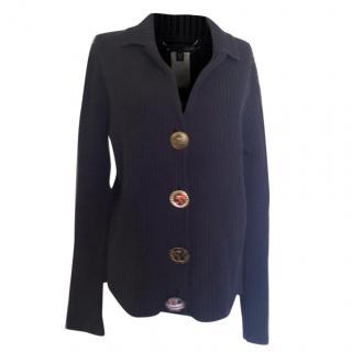 Les Copains Blue Knit Cardigan