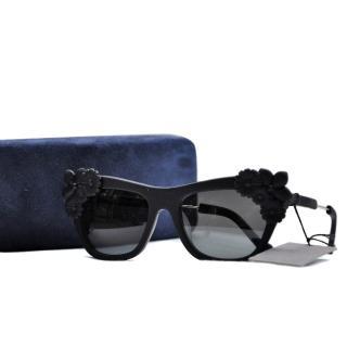 Preen by Thornton Bregazzi Black Bouquet Sunglasses