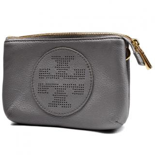 Tory Burch Grey Pebbled Leather Crossbody Bag