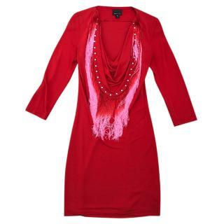 Just Cavalli Red Mini Dress