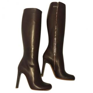 Mulberry Oxblood Boots