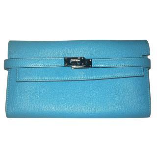 Hermes Blue Kelly wallet