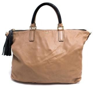 Anya Hindmarch Huxley Nude Leather Tote