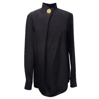 Celine Black Mulberry Silk Shirt