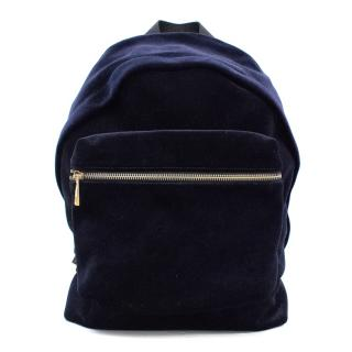 Sandro Avril Navy Velvet Backpack
