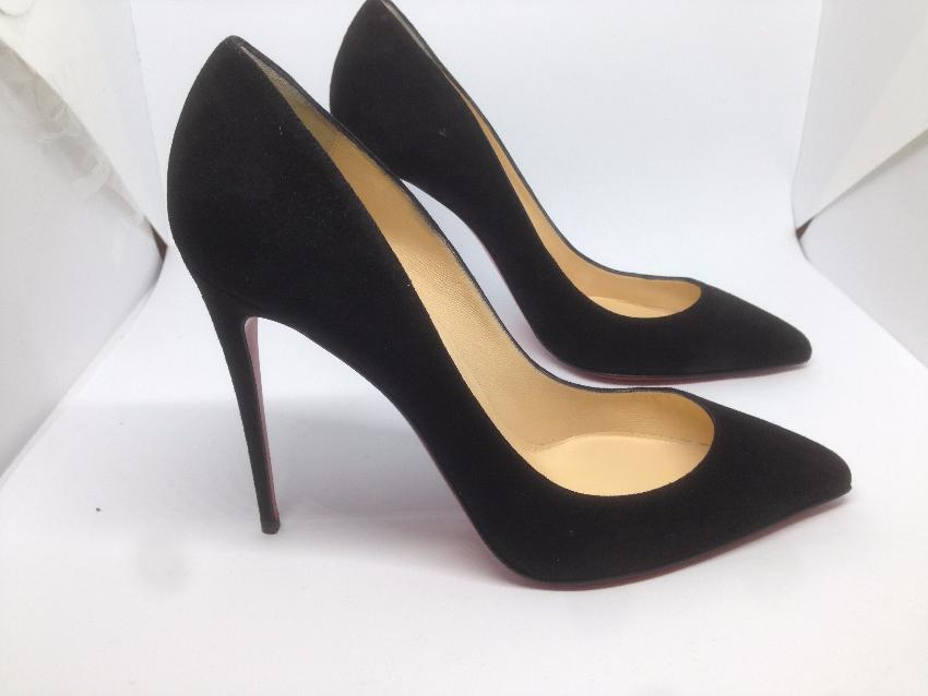 low priced 42e52 b62e7 Christian Louboutin Pigalle Follies Suede Black 100mm