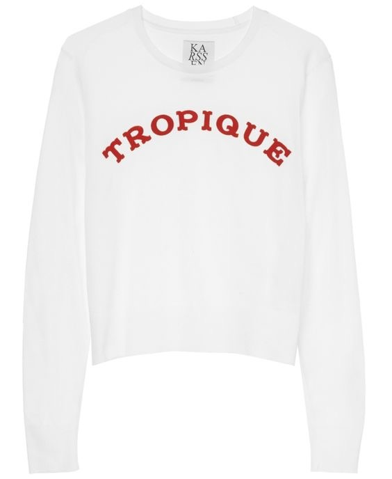 Zoe Karssen White 'Tropique' Top