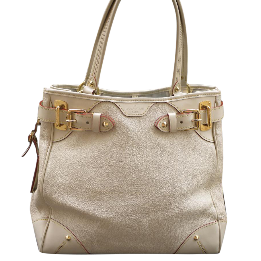Louis Vuitton Suhali Le Majestueux Blanc Leather Tote Handbag