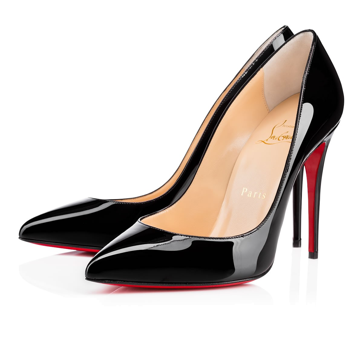 official photos dd819 b973a Christian Louboutin Pigalle Follies 100 patent leather pumps