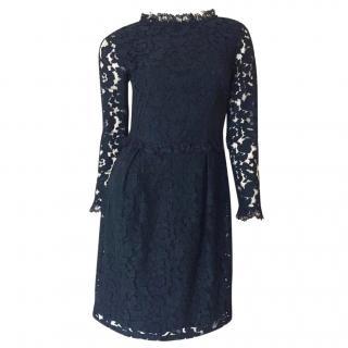 Alice by Temperley Black Lace Midi Dress