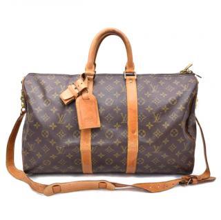 Louis Vuitton Keepall Bandoliere 45 Monogram Boston Bag 10403