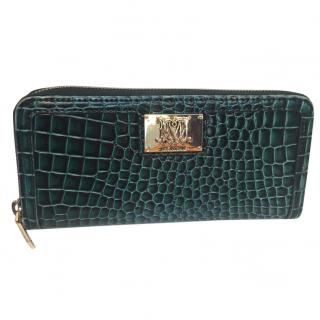 Love Moschino Green Faux Snakeskin Purse