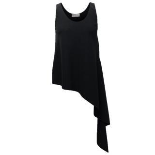 Balenciaga Black Asymmetrical Crepe Top